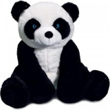 Peluche panda noir et blanc - Panda 30 cm