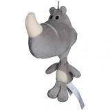 Peluche rhinocéros 21 cm
