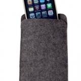 Pochette smart phone en feutrine naturelle