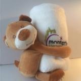 Doudou & plaid brodé offerts par la Mairie de Monterblanc aux bébés