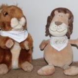 Peluches personnalisées Ecureuil et lion