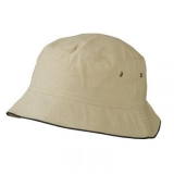 Bob en coton brossé avec passepoil- Summer hat