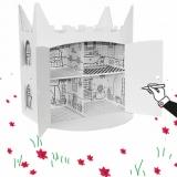 Maison de poupée à colorier - Colouring doll's house
