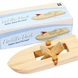 """Bateau en bois à """"pédalo""""- Paddle boat"""
