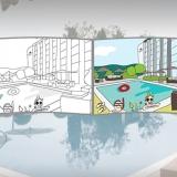 Montage Hotel Wilson piscine