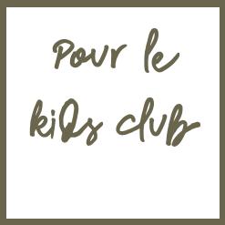 Cadeaux hotel kids club