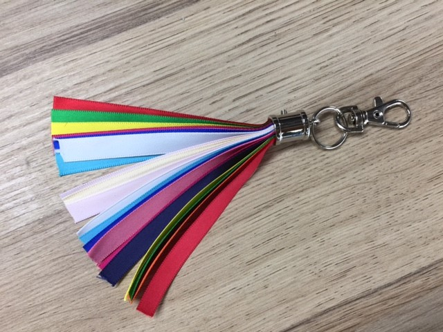 Porte clefs - ruban personnalisable