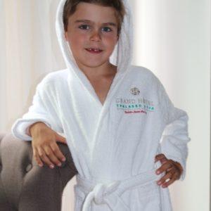 peignoir enfant personnalise
