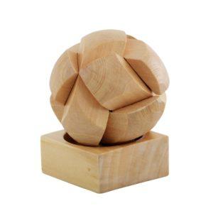 Balle puzzle en bois