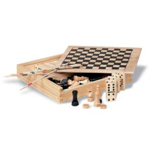 boîte 4 jeux en bois