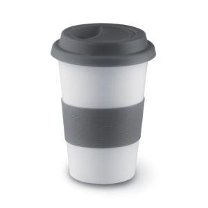 mug céramique avec couvercle en silicone
