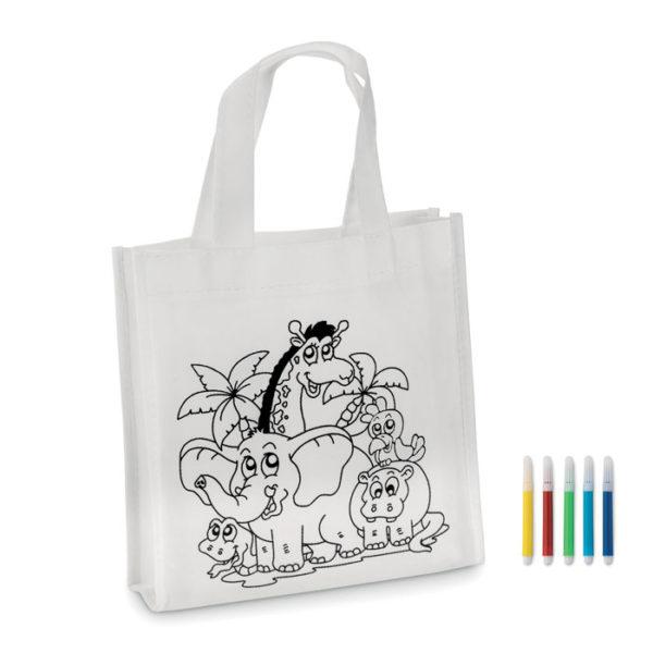 mini shopping bag à colorier