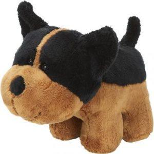 Peluche chien marron