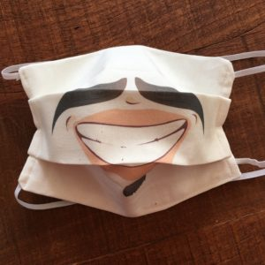 masque de protection sanitaire sourire