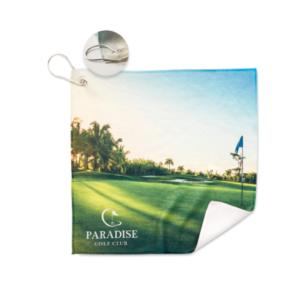 serviette de golf personnalisée